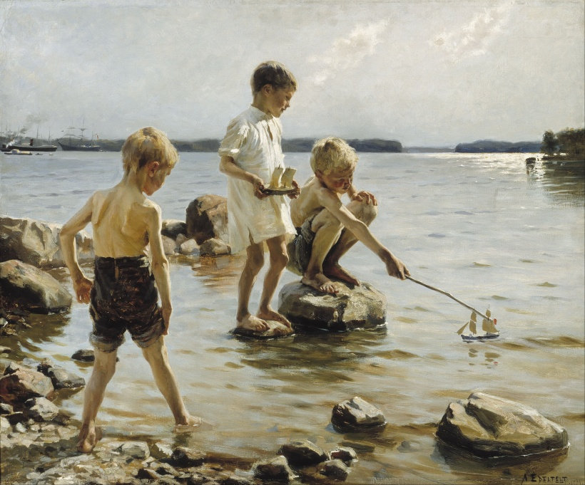 Albert_Edelfelt_-_Boys_Playing_on_the_Shore_-_Google_Art_Project