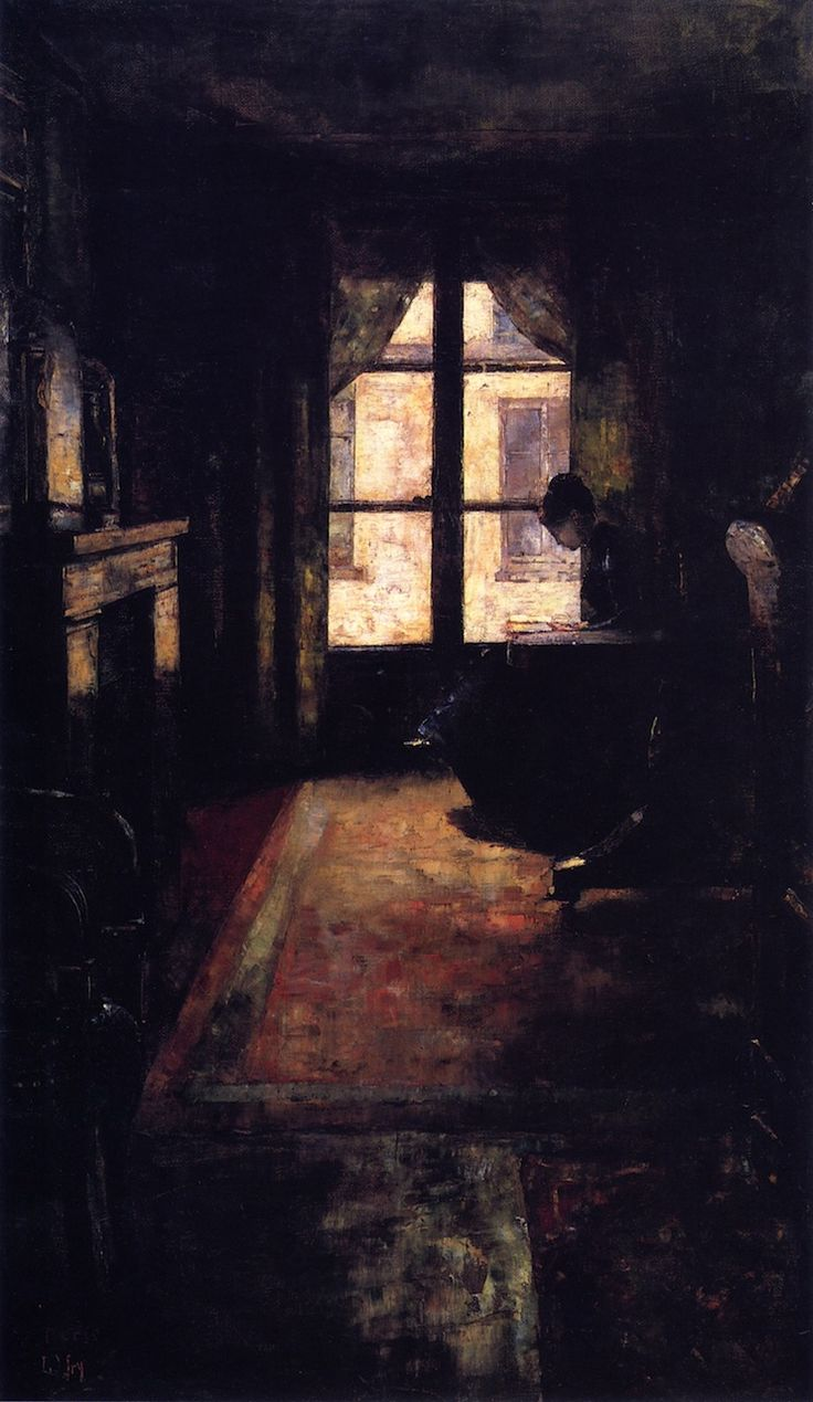 Lesser Ury (German, 1861-1931), Parisian Interior, 1881 - Copy
