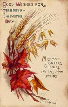Good wishes for Thanksgiving