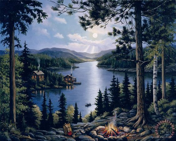 Cabin in the Woods by John Zaccheo