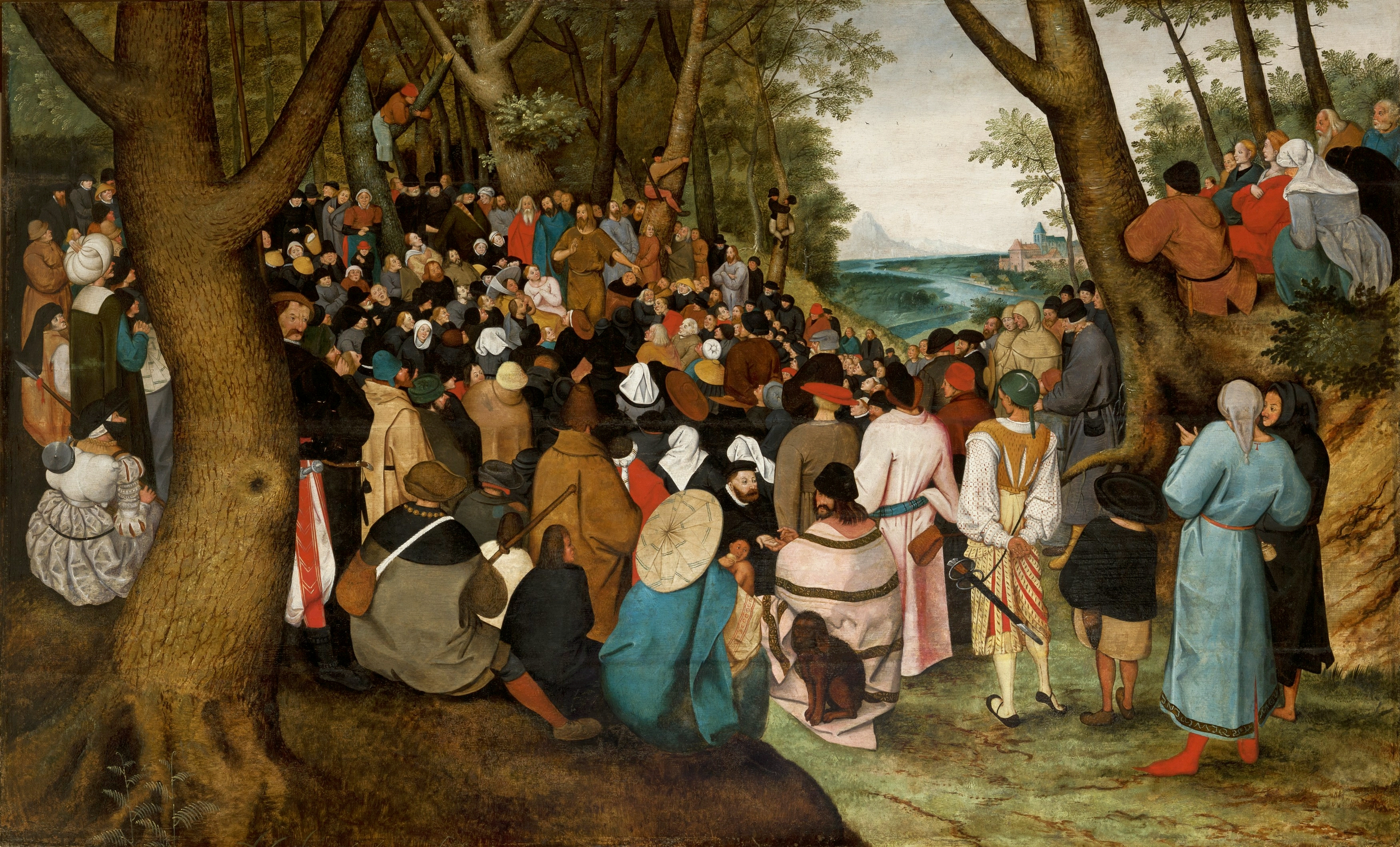 Pieter_Brueghel_The Elder - The Preaching of St. John the Baptish
